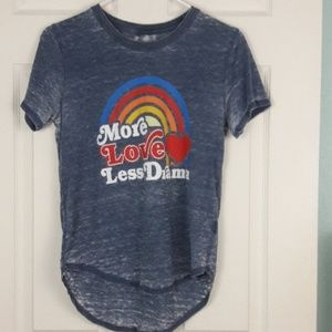More Love Less Drama Burn Out Shirt Top